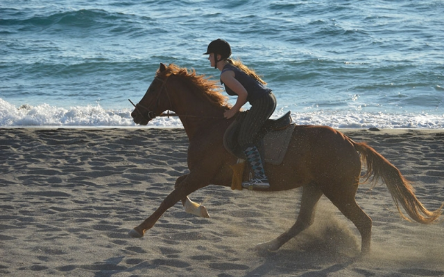 Horseback riding in Crete